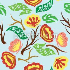 Blossom Twister Fantasia by Yenty Jap available for download on patterndesigns.com Vector Pattern, Surface Design, Patterns, Flowers, Art, Fantasy, Block Prints, Art Background, Kunst