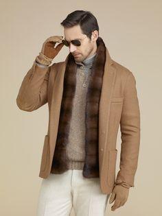 Loro Piana sweater jacket.