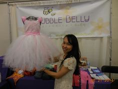 Silvie Truong holding a beautiful TUTU from  SHOPBUBBLEBELLY.COM in Davis.