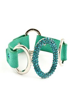 Teal Crystal Ova Bracelet on Emma Stine Limited