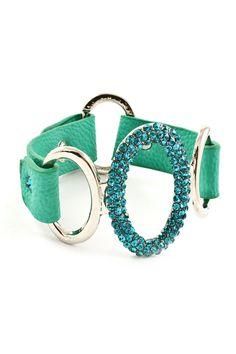 Teal Crystal Ova Bracelet