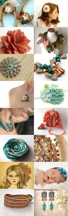 Flowers In Her Hair, Flowers Everywhere . . . by Jill York OBright on Etsy--Pinned with TreasuryPin.com