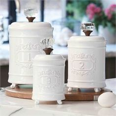 Circa Canister Set | Living | Mud Pie #MudPieGift