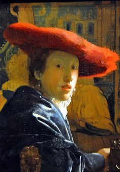 Jan Vermeer -   The Girl with the Red Hat   1665   at National Art Gallery Washington DC