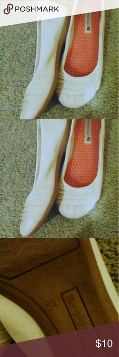 White Flats Worn twice, good shape! American Eagle By Payless Shoes Flats & Loafers