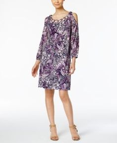 Style & Co Paisley-Print Dress, Only at Macy's - Blue XXL