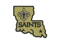 New Orleans Saints State Football Machine by DecoStitching on Etsy, $3.50