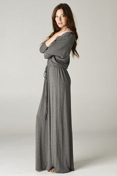 Angelina Dress in Soft Charcoal