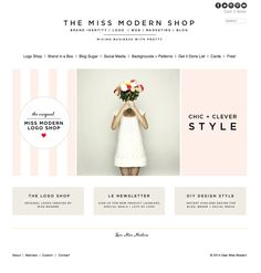 fresh little home page makeover | Miss Modern Design Shop