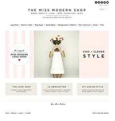 fresh little home page makeover | Miss Modern Design Shop