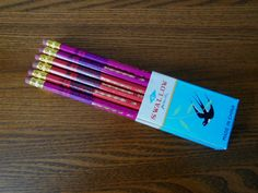 SWALLOW pack of 12 vintage unsharpened pencils with erasers HB 1960's