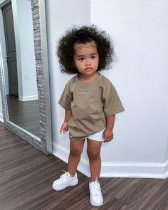 Cute Mixed Babies, Cute Black Babies, Black Baby Girls, Cute Little Girls Outfits, Kids Outfits Girls, Toddler Girl Outfits, Cute Kids Fashion, Baby Girl Fashion, Mix Baby Girl