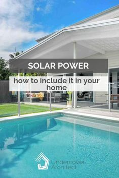Are you thinking about solar power for your new home or renovation? Listen for tips and to see if it's worthwhile for your home. Sister Home, Solar Power, Swimming Pools, Need To Know, Summertime, Foundation, Interview, Electric