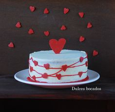 Raspberry white chocolate cake {Valentine's Day} - Pastel de frambuesa y chocolate blanco {San Valentin}