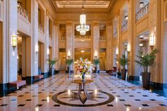 The Lobby at the Peabody Opera House in St. Louis Missouri