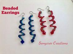 Spiral Beaded Earrings..Super Easy Tutorial - YouTube