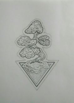 Bonsai Tree Tattoo Design by Mauricio Hernández