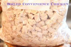 Boiled Covenience Chicken plus Broth Pre Cooked Chicken, Boiled Chicken, How To Cook Chicken, Boil Chicken To Shred, Chicken Meals, Shredded Chicken, Freezer Cooking, Freezer Meals, Quick Meals