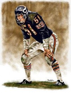 Dick Butkus Chicago Bears 11x14 Lithograph: