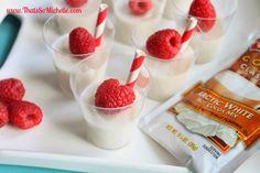 White Chocolate Jello Shots with Raspberries - Thats so Michelle...