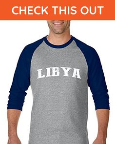Ugo What to do in Libya? Travel Time Flag Map Guide Flights Top 10 Things To Do Unisex Raglan Sleeve Baseball T-Shirt - Cities countries flags shirts (*Amazon Partner-Link)