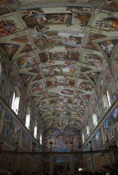 Ceiling of the Sistine Chapel - Michelangelo. Vatican City.