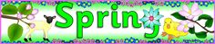 Spring display banner (SB2008) - SparkleBox - in English, Norwegian, and a variety of other languages