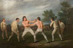 William Warr Defeating William Wood at Navestock in Essex, 31 December, 1788 Ramsay Richard Reinagle The National Trust for Scotland, Brodick Castle, Garden & Country Park Colonial Games, Fine Art Prints, Canvas Prints, Art Uk, Box Art, 18th Century, Painting & Drawing, December, Poster