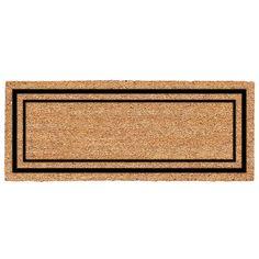 US Cocoa Mat DeCoir Double Door Classic Border Doormat