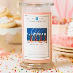 Birthday Cake Jewelry Candle. An excellent cake scent with a undertone of vanilla! This awesome Birthday Cake Jewelry Candle is the ultimate gift for your loved one's birthday! It smells of warm, delicious cake; with an irresistible aroma of super sweet frosting. Smells amazing! 100% High Scented Soy Candle and Also 100% Vegan. Size of candle is 21oz.  A Hidden Jewel Inside Every Candle. Burn your candle only a few hours to get your jewel. Choose Your Own Jewelry (Necklace, Bracelet…
