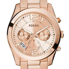 Perfect Boyfriend Multifunction Rose-Tone Stainless Steel Watch
