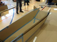 Cardboard Boat For Races And Weight Challenge