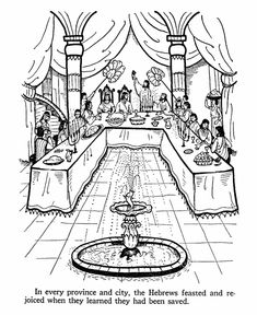 ester bible story coloring page