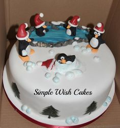 christmas cake   christmas cake with penguins   Flickr - Photo Sharing!