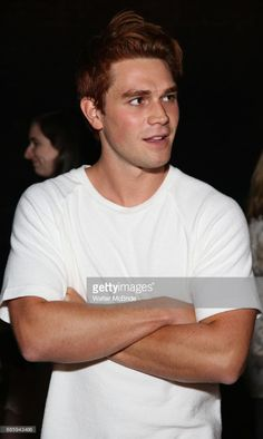 KJ Apa from the cast of 'Riverdale' visits Broadway's 'Bandstand' at the Bernard Jacobs Theate on May 19, 2017 in New York City.