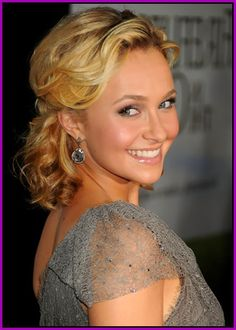 Hayden Panettiere - Half up updos hairstyles
