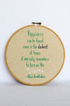 Harry Potter Embroidery