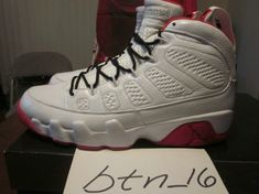 5770d470af1a69 Young Air Jordan IX Boys Shoe History of Flight White Watermelon Red