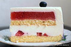 """Торт """"Клубничная роза"""" • Суфлейные торты, Птичье молоко"""