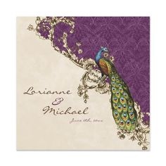 Peacock Wedding Ideas and Supplies: Peacock Invitations - Best from Zazzle