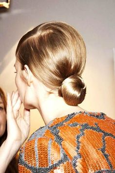 The slick low bun.