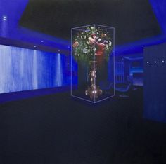 """Terrarium II (2012) 51"""" x 51"""" Oil on canvas Signed by the artist"""