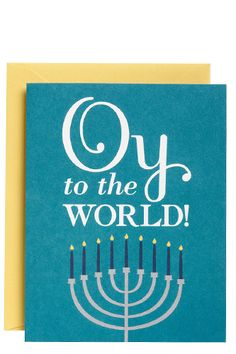 OMG the most fun Hannukah card ever!  via Paper Source