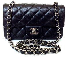 Chanel Classic Rectangle Mini Bag Blk Caviar Sil