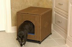 Litter Box & Accessories - Large Decorative Litter Pan Cover - Shown in Natural Wicker
