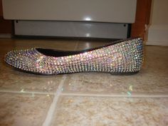 Embellished Crystal Clear AB Ballet Flats by JewelsEmbellishing, $84.50