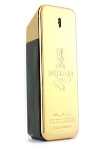 One Million  Designer: Paco Rabanne     A woody, masculine fragrance for menDynamic, energetic & passionateTop notes include ruby mandarin orange, grapefruit, peppermint.Middle notes are rose absolute, cinnamon, and spices.Base notes blondleather, patchouli, white woods, and amber.