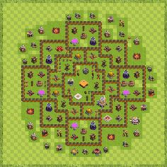 War Base Town Hall Level 11 By hosein0078 (hossein TH 11 Layout)
