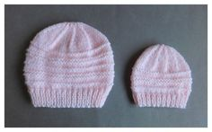 Another simple but effective little baby hat pattern for you to try - 0-3 months or medium preemie                                          ...