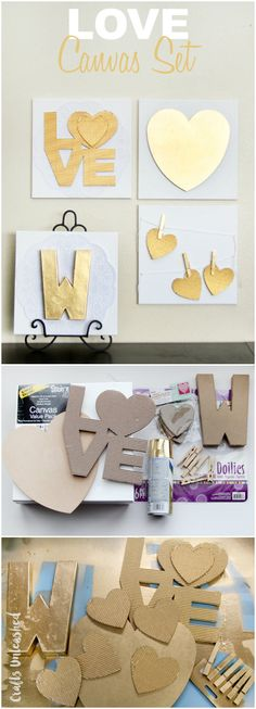 """LOVE"" Themed Canvas DIY Set"